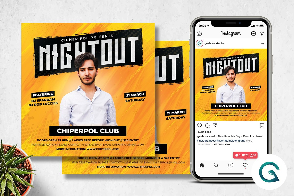 Night Out Flyer Template