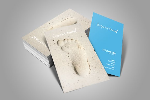 travel agency card business card templates creative market