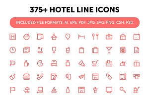 375+ Hotel Line Icons