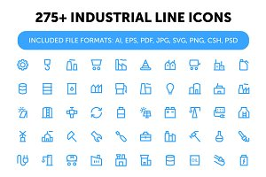 275+ Industrial Line Icons