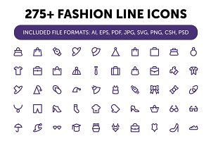 275+ Fashion Line Icons