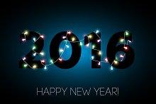 2016 Happy new year banner. Vector.