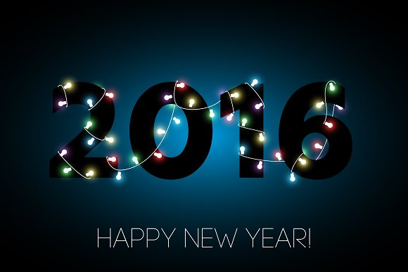 2016 Happy new year banner. Vector. - Objects