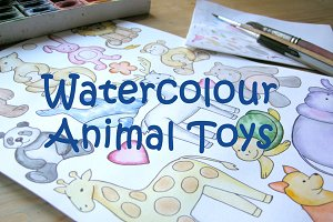 Watercolour Animal Toys Collection