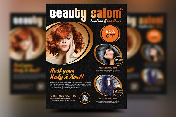 Beauty Salon Flyer Templates Creative Market