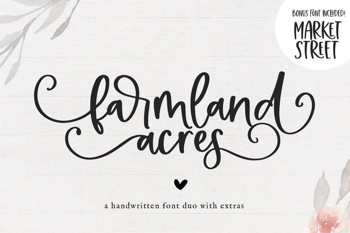 Farmland Acres | Script Font Duo