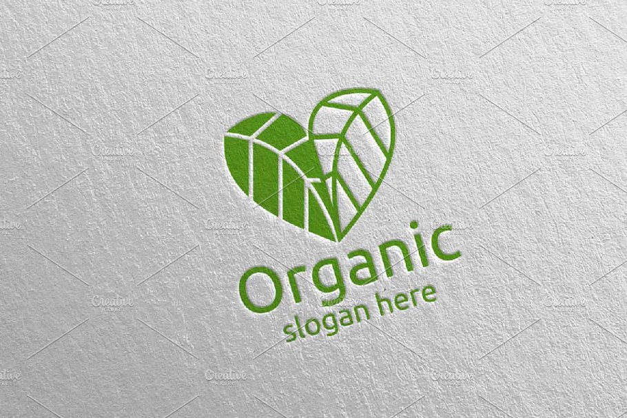 Love Natural and Organic Logo 36