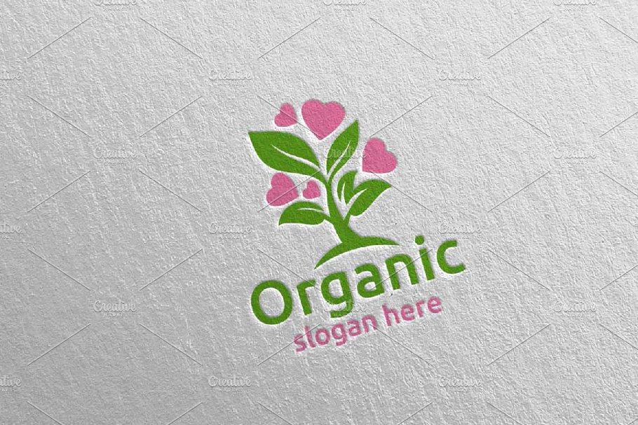 Love Natural and Organic Logo 37