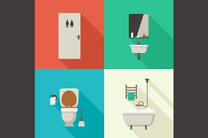 Bathroom and hygiene illustrations