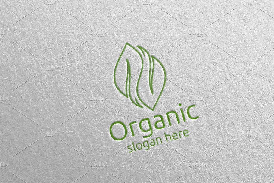 Natural and Organic Logo design 40