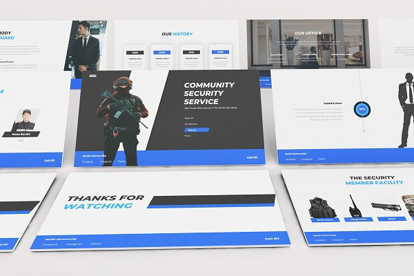 Security Guard Powerpoint Template Creative Powerpoint Templates Creative Market