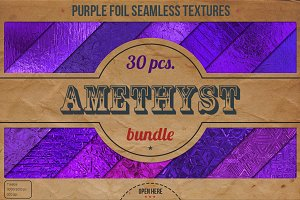 Purple Foil Textures XL Bundle