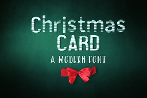 Christmas card Font and Freebie!