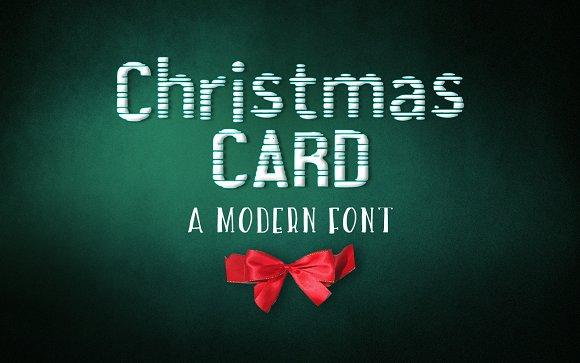 Christmas card Font and Freebie!