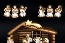Nativity scene. Christmas crib
