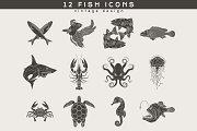 12 Fish Logos