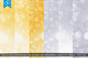 Silver & Gold Christmas/New Year Bg