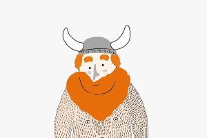 Hairy Viking cartoon