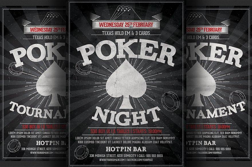 poker night flyer template flyer templates creative market pro. Black Bedroom Furniture Sets. Home Design Ideas
