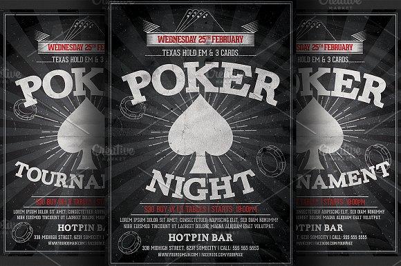 Poker Night Flyer Template Flyer Templates Creative Market