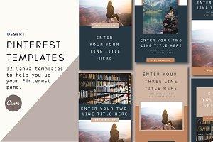 Pinterest Templates | Desert