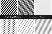 Striped seamless patterns.