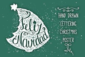 Hand Drawn Spanish Christmas Tree