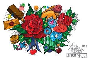 Tattoo, Love, Vector
