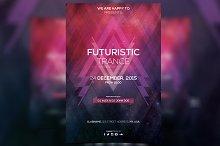 Futuristic Trance - PSD Flyer