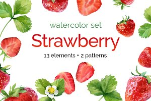Watercolor Strawberry