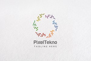 Premium Pixel Circle Logo Templates