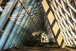 Abstract Diamond Shape Building