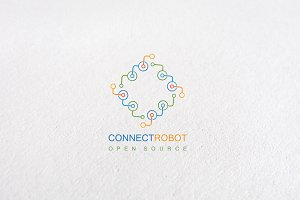 Premium Connect Robot Logo Templates