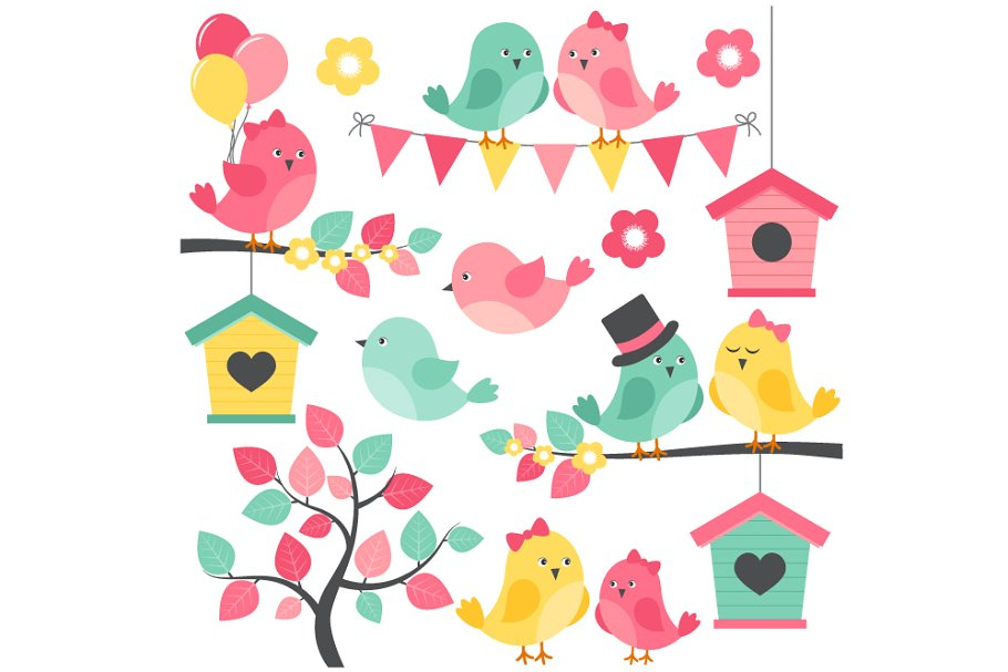 Summer Birds in Illustrations - product preview 8