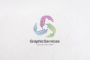 Premium Graphic Services Logo Design