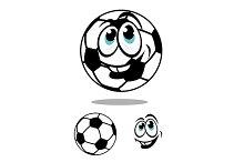 Cartoon soccer or football ball char