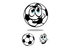 Cartoon soccer or football ball char