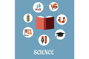Education and science flat design