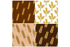 Seamless patterns of wheat and cerea