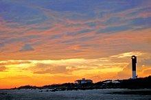 Lighthouse Sunset at the beach