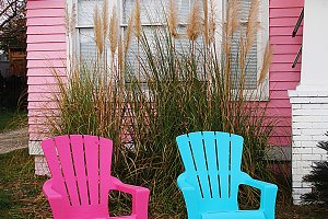 Pink & Blue Chairs