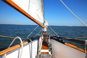 Out to Sea in a sailboat