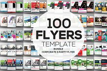 100 Corporate and Party Flyers Psd