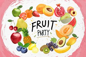 Fruit Party - Digital graphics
