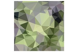 Asparagus Green Abstract Low Polygon