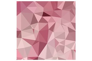Carnation Pink Abstract Low Polygon