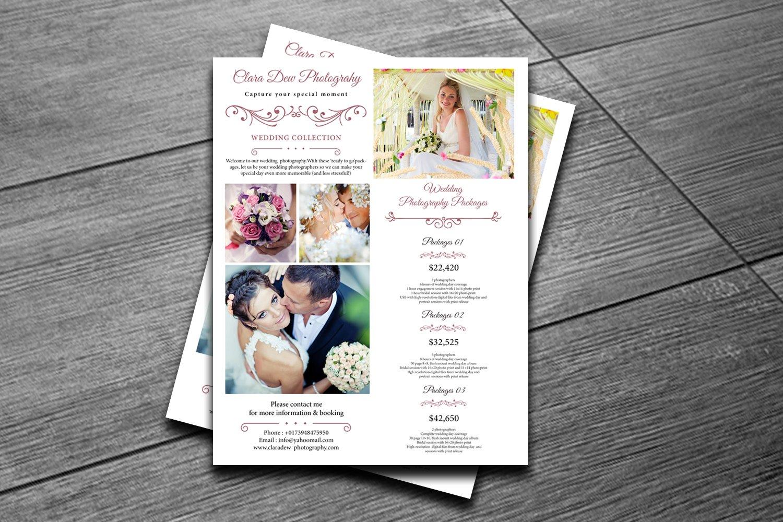 Wedding Photography Templates Free: Wedding Photography Pricing -V137