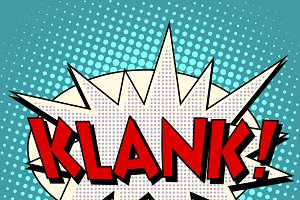 klank comic bubble retro text