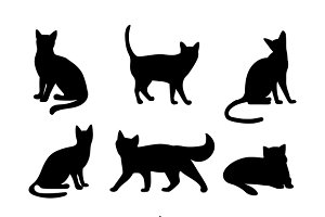Cats silhouettes