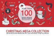 Christmas Mega Collection Hand Drawn